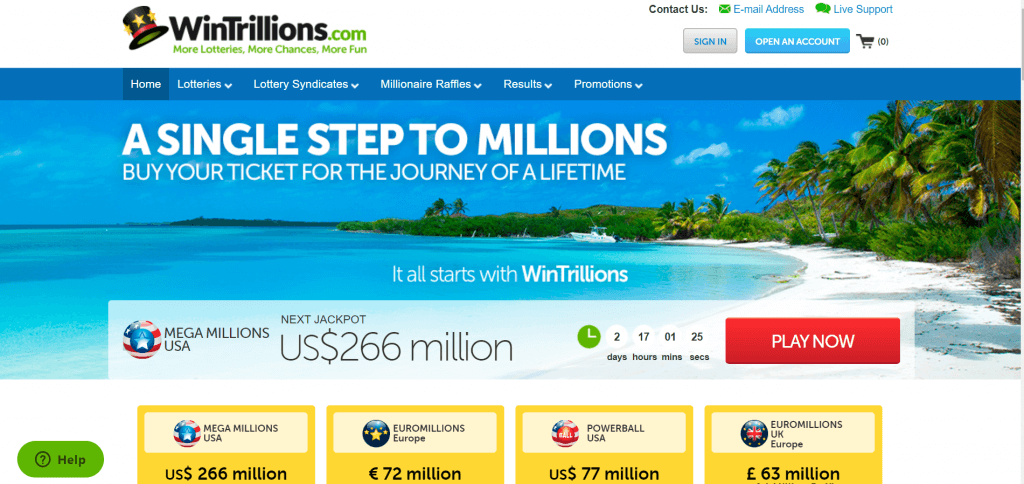 WinTrillions Homepage