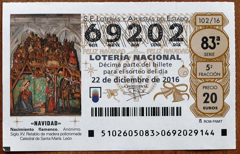 Lotería de Navidad ticket