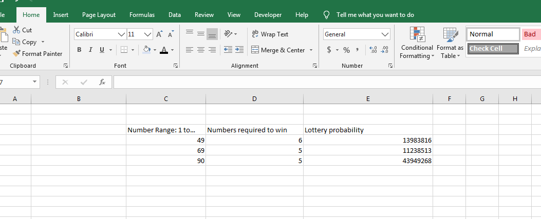 Determine Lottery Probability II