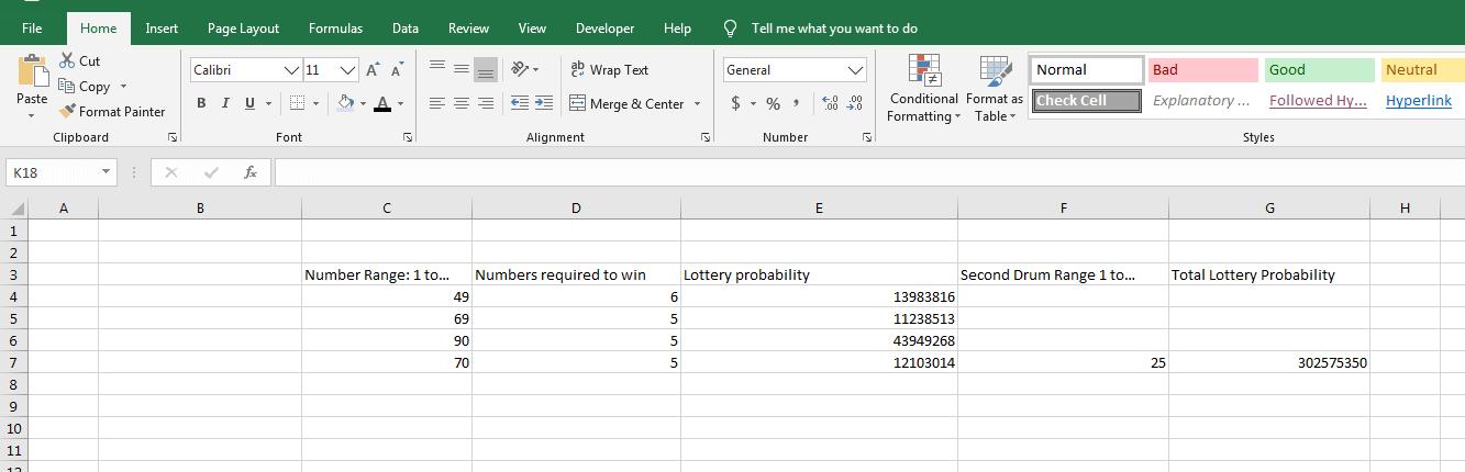 Determine Lottery Probability III