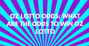 Oz Lotto Odds